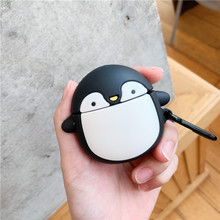3D cartoon penguin Wireless Bluetooth Earphone Case For Apple AirPods Silicone Headphones Cases Airpods 2 Protective Cover