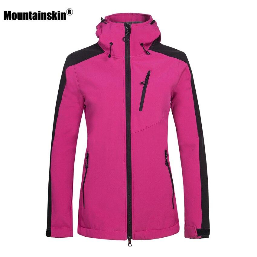 Mountainskin de Femmes D'hiver Softshell Polaire Vestes de Sport En Plein Air Randonnée Trekking Camping Ski Femme Coupe-Vent VB045