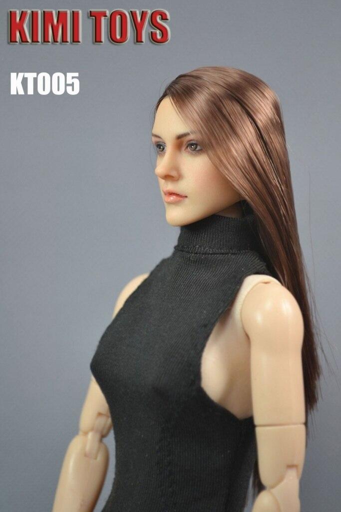 "KIMI TOYS 1:6 KT004 European American Female Headsculpt Girl Head For 12/"" Figure"