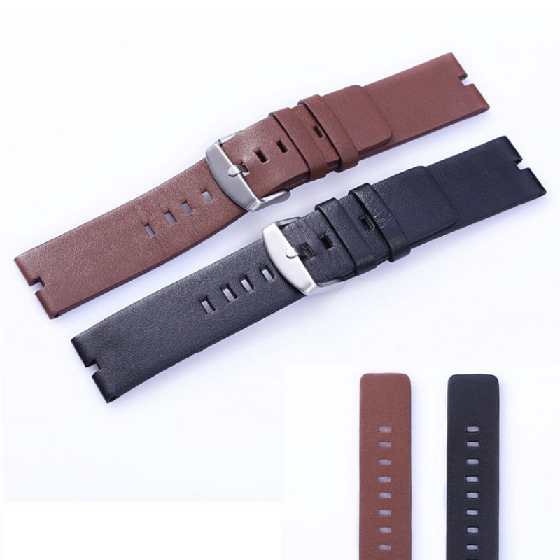 22mm Universal Strap Smooth Leather Watch <font><b>Band</b></font> For Motorola <font><b>MOTO</b></font> <font><b>360</b></font> Samsung Gear S2 Watch <font><b>Band</b></font> Brown Black Replacement Bracelet image