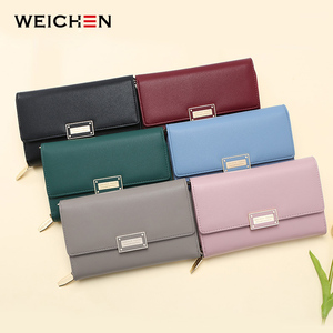 Image 5 - WEICHEN Brand New Multi functiona Ladies Shoulder Bag & Clutch Big Capacity Leather Female Wallet Purses Messenger Bag Women NEW
