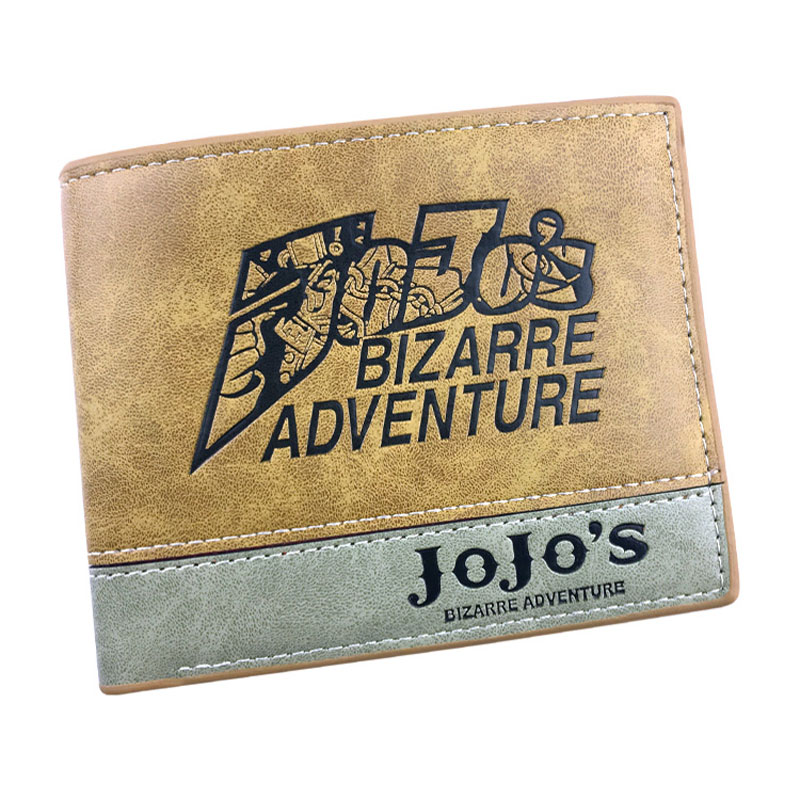 JOJO Bizarre Adventure Leather Wallets Anime Cartoon Leather Short Purse With Card Holder Gift Men Women Carteira Wallet