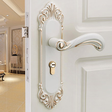 Door-Lock Bedroom Mechanical-Door Ivory-Room European-Style Home Wooden