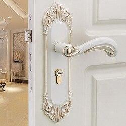 Europejski styl zamka drzwi wewnętrzne z drewniane drzwi do sypialni lock home drzwi mechaniczne ivory biały blokada drzwi wewnętrznych