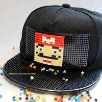 עיצוב אופנה חדש DIY נתיק כובע נהג משאית כובעי Snapback לגברים קיץ פסיפסים לבנים לנשים כובעים שחורים