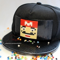 New Fashion Design DIY Detachable Trucker Snapback Hats For Men Summer Mosaics Brick Hat For Women