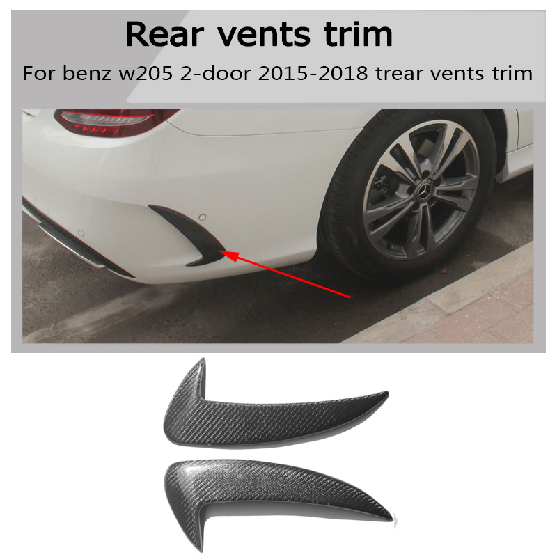 W205 Carbon c coupe Car styling Side Fender Vent Trim for Benz w205 c180 c200 c300 2 door not fit for c63 amg 2015-2018 image