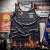 New 2018 Tank Top breathable summer fitness sleeveless leisure Vest T-shirt, train, 3D printing No.30 Curry men's vest 1915 1