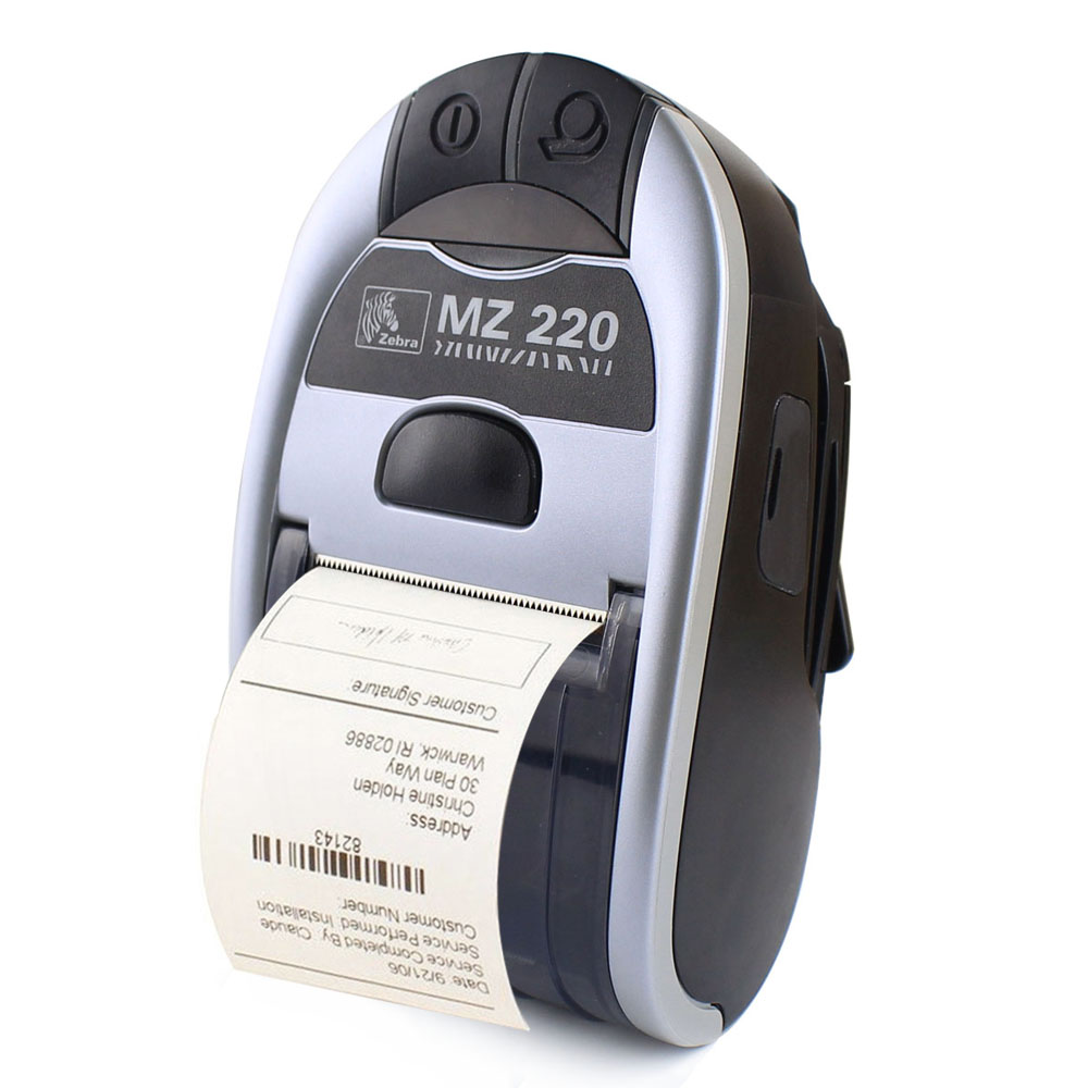 Original For Zebra MZ220 Wireless Bluetooth Mobile Thermal Printer For 50mm Ticket Or Label Portable Printer 203 dpi original new for zebra mz 220 mobile thermal label printer mini portable bluetooth label printer stock clearance price