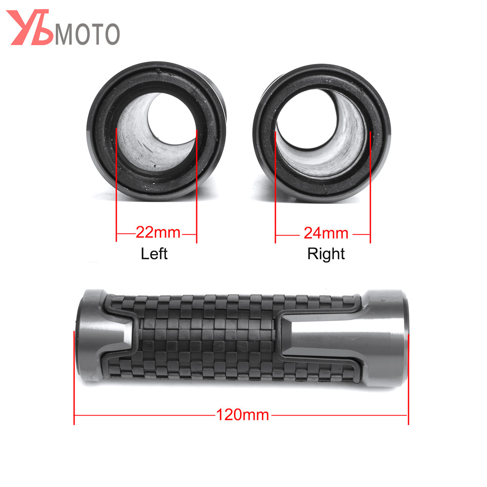 Flash Deals Fashion Accessories 22mm 7/8'' Brand New Motorcycle Anti-Skid Handle Grips grips handlebar FOR Piaggio Vespa GTS 300 9