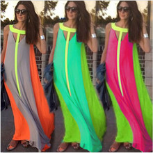 Women O Neck Sleeveless Gradient Multicolor Dress