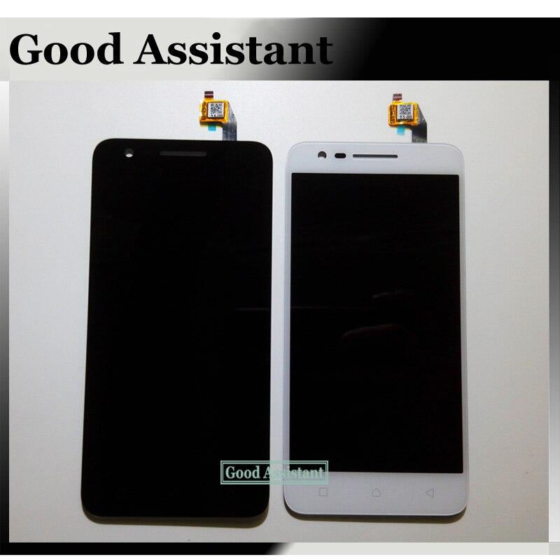 imágenes para Negro/blanco pantalla lcd + pantalla táctil digitalizador asamblea para lenovo c2 k10a40/lenovo vibe c2 + número de seguimiento