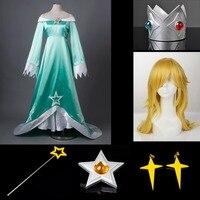 Лучшие Super Mario Galaxy Wii U розалина и Luma косплей костюм и оружие и парик mp003136