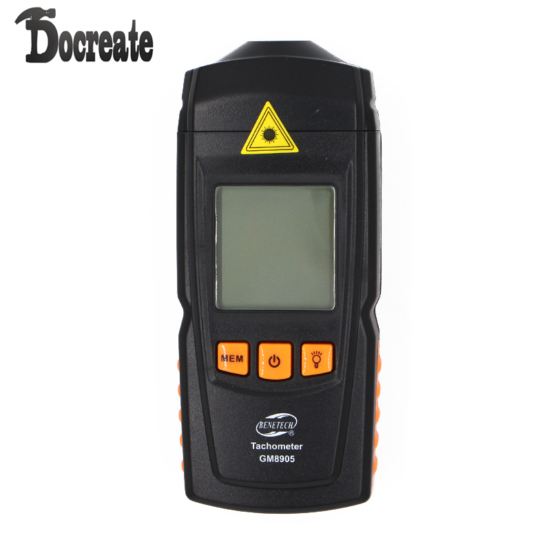 GM8905 Non-Contact Handheld LCD Digital Laser Tachometer RPM Tach Tester Meter Motor Speed Gauge digital led punch tachometer rpm speed meter 5 9999rpm tacho gauge hall proximity switch sensor 12v 8 15v red