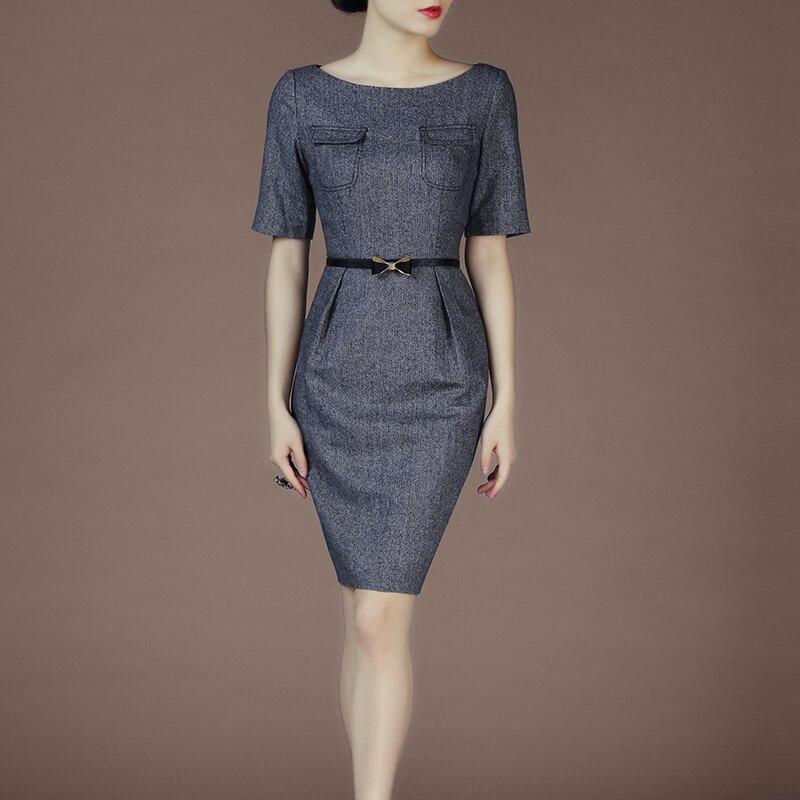 Spring Ans Autumn OL Short sleeve Fashion Elegant Slim One piece Dress Sexy Hip Pencil Dress
