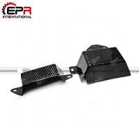 For FT86 Carbon Fiber Cusco Style Belt Cover 2pcs Glossy Fibre Finish BRZ GT86 Engine Body Kit Racing Part Car Accessories