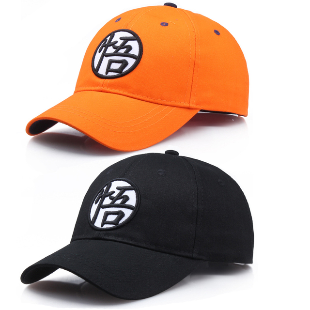 43d418175 US $6.58 30% OFF Anime Dragon Ball Super Cosplay Hat Son Goku Embroidery  Adjustable Snapback Cap Spring Summer Unisex Sport Accessories-in Boys ...