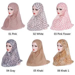 Image 2 - One Piece Amira Women Muslim Hijab Niquabs Scarf Islamic Headwear Shawls Headwraps Hat Full Cover Headscarf Prinrt Middle East
