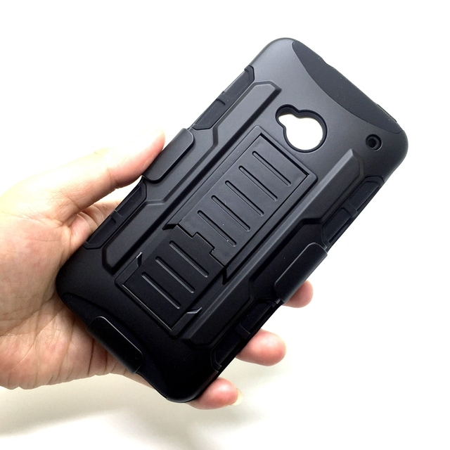 half off afe8e 0e2c5 For HTC M7 Heavy Duty Armor Kickstand Cases For HTC ONE M7 801E 801S M8  Hybrid Rugged Cover Belt Clip Holster Stand Phone Bag-in Holsters & Clips  from ...