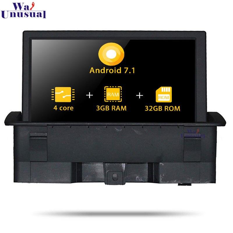 Navigation GPS de voiture Quad Core Android 7.1 pour AUDI A1 (2010 --) pas de lecteur DVD unité de Radio automatique Double Din Magnitol