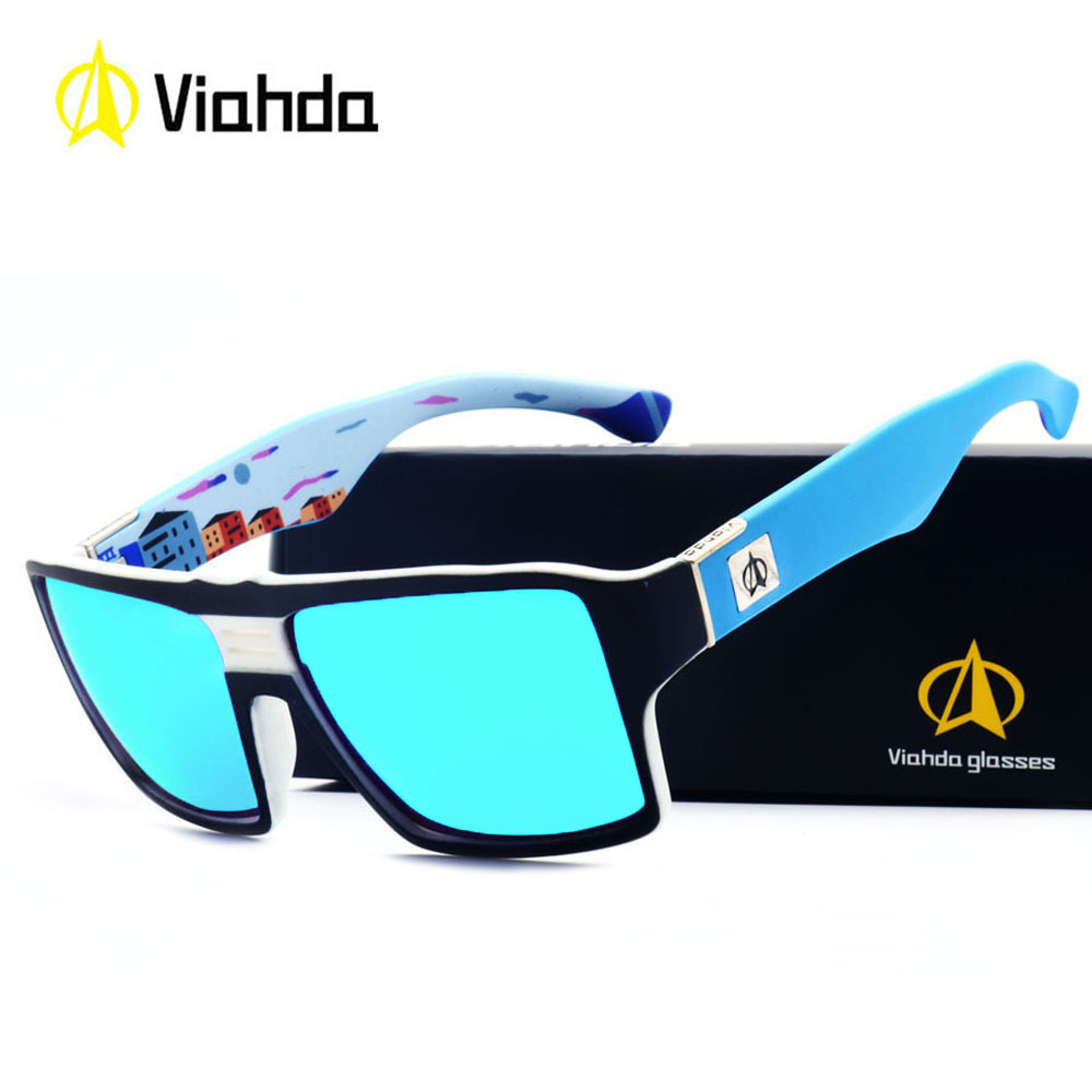 Viahda Sunglasses Women Men Brand Design Frame Sun Glasses For Men Fashion Classic UV400 Square Eyewear
