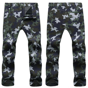 Image 5 - Winter Pants Men Outwear Soft Shell Fleece Thermal Trousers Mens Casual Autumn Thick Stretch Waterproof Military Tactical Pants