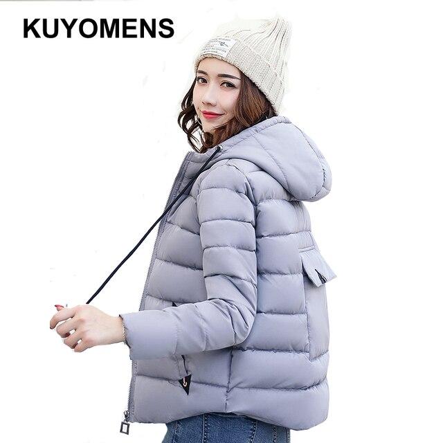 Kuyomens المرأة السترات و المعاطف الشتوية 2017 النساء سميكة سترة الشتاء سترة قصيرة الإناث القطن مبطن واق manteau فام
