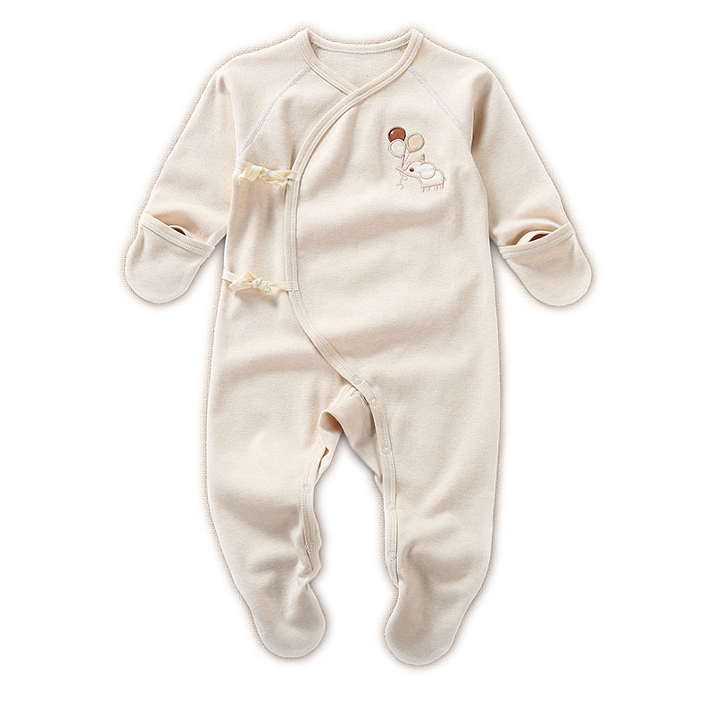 Newborn Baby Boy Girls Organic Cotton Spring Cute Long Sleeve Footie Clothes Infant Unisex Baby Casual Footies Overall Jumpsuits newborn baby girls boy long sleeve organic cotton rompers outfits clothes infant unisex baby jumpsuits overall onesie custome