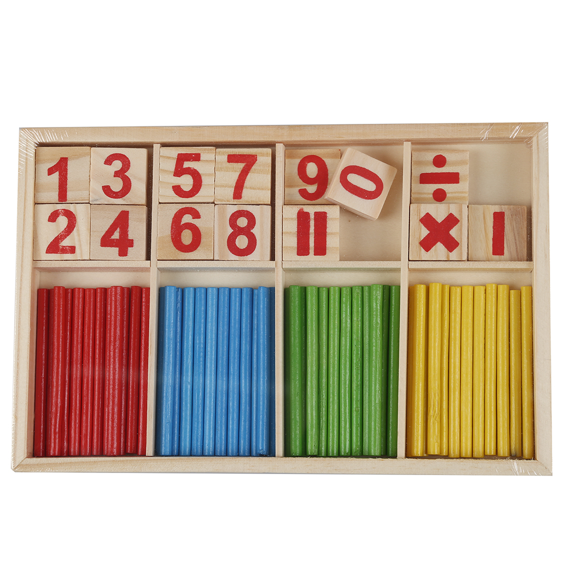 Baby Children Wooden Counting Math Game Mathematics Toys Kids Preschool Education Intelligence Stick ...