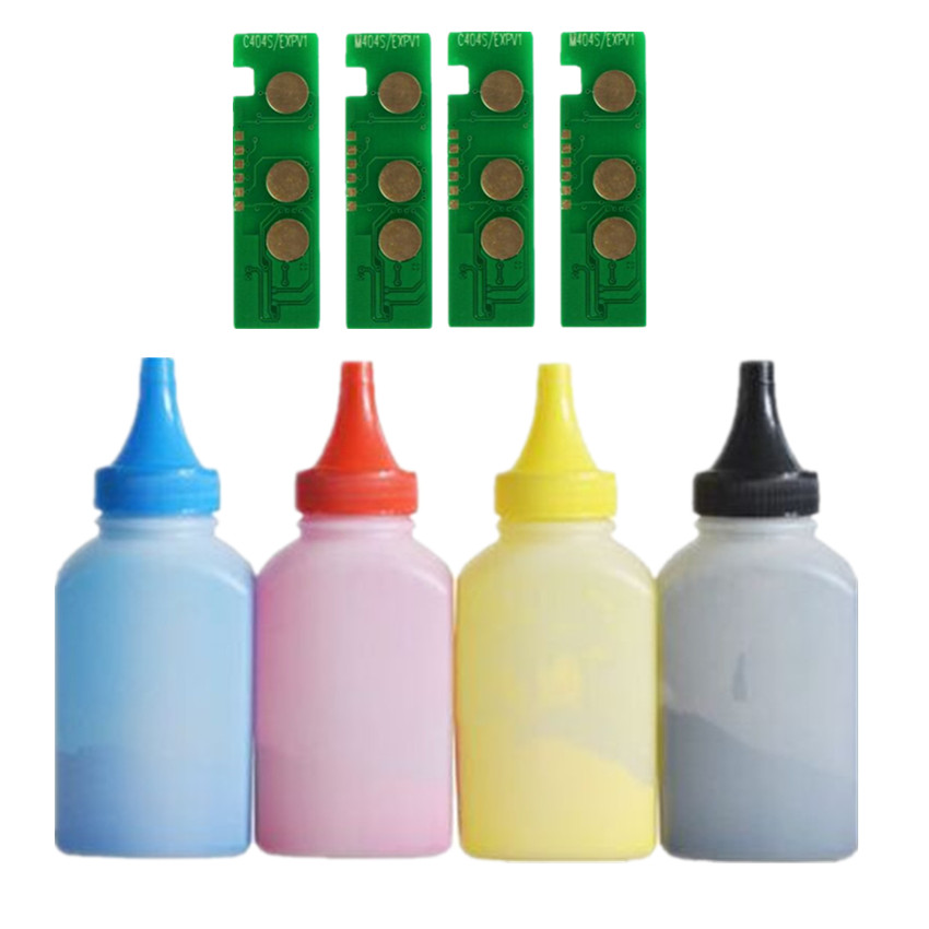 4 Refill Color toner Powder + 4chip CLT-406S clt406s toner cartridge for Samsung SL-C410 SL-413W SL-C460W SL-C460FW SL-C463W rs 4 in 1 4 in 1 toner cartridge chip resetter for samsung free shipping by dhl