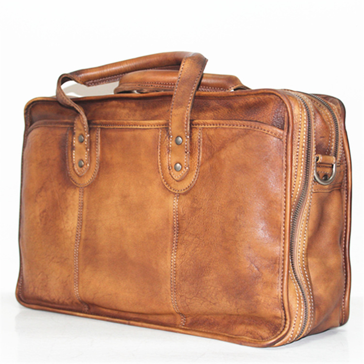 Genuine Leather Cow Skin Casual Briefcase Bag Office Business Laptop Bags