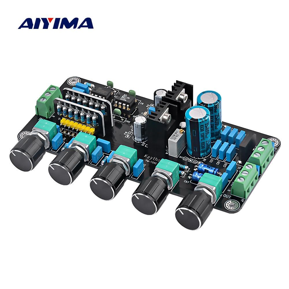 Aiyima Aggiornato OPA2604 AD827JN OPAMP Stereo Preamplificatore Pre-amplificatore di Scheda di Controllo di Tono Del Volume