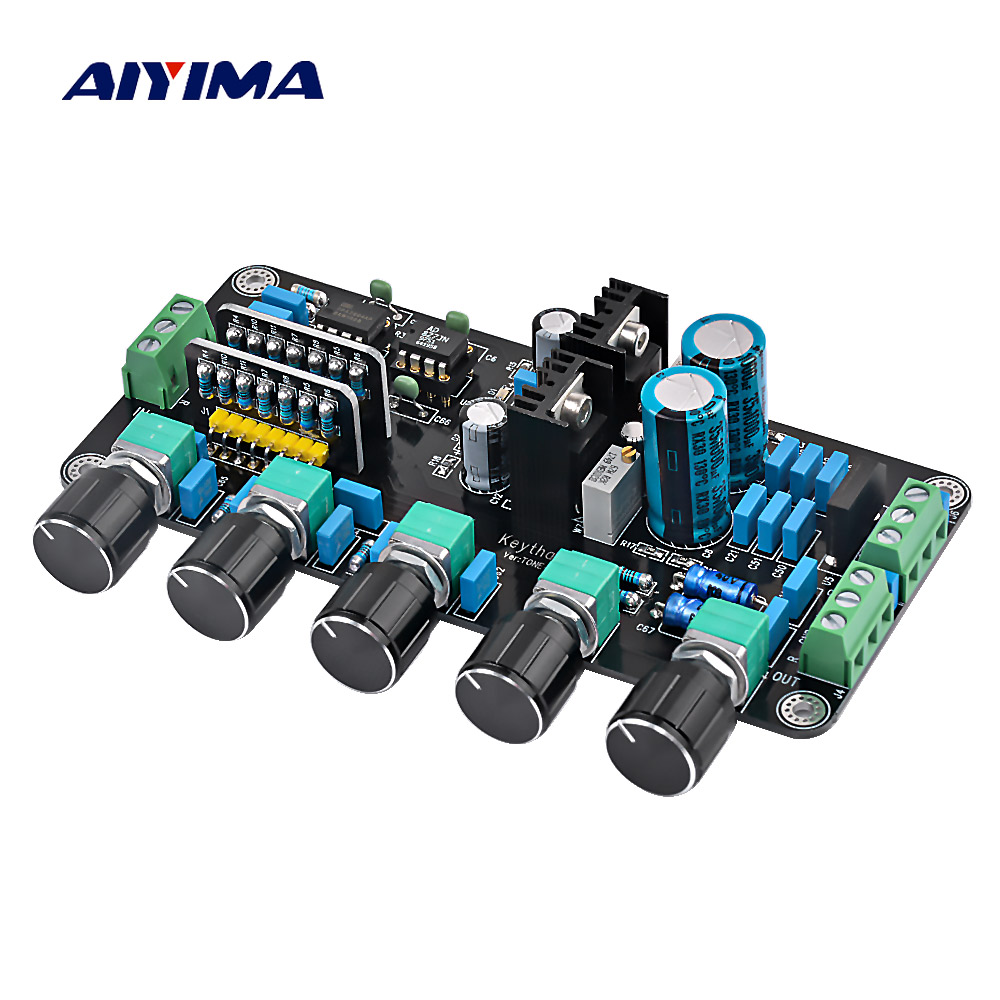 Aiyima Updated OPA2604 AD827JN OPAMP Stereo Preamp Pre-amplifier Volume Tone Control Board el5373iuz ic opamp diff 450mhz 24qsop