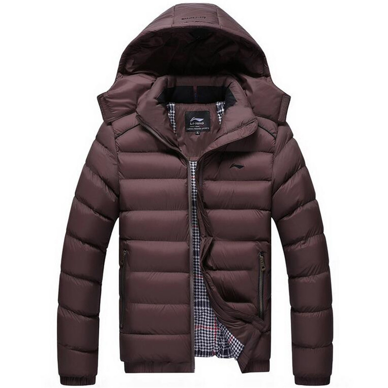 2016 high quality jacket men winter Fashion Warm Parkas And Coats with can be Removable Hooded soft Fabric china brand clothing