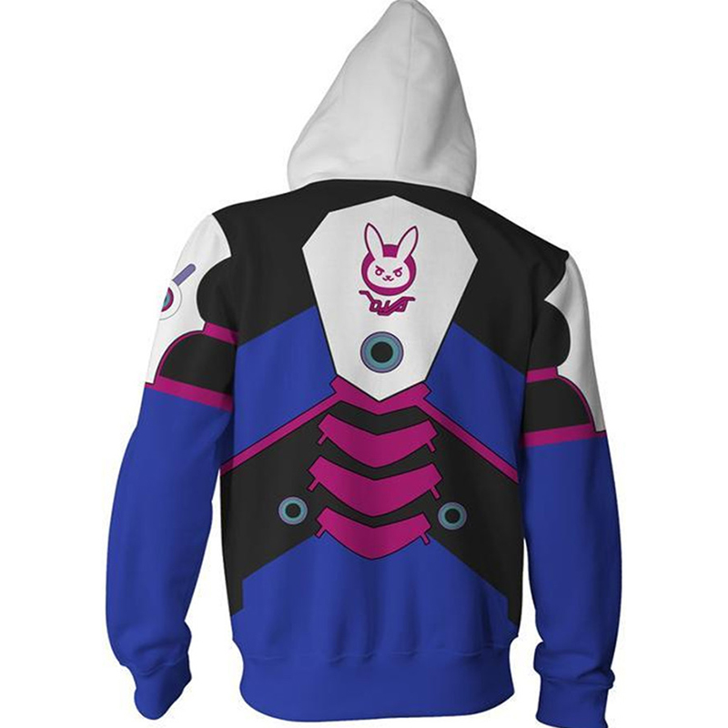 Overwatch DVA Cosplay Costume 3D Print Hoodie Sweatshirt Women Men Couple Hood in Game Costumes from Novelty Special Use