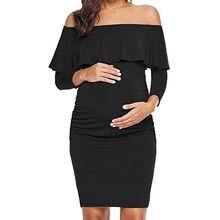 26d3d644b63b Aggiungi alla Lista dei Desideri. ARLONEET One-spalla sexy abiti in  gravidanza Le Donne Mamma Gravidanza Maternità Increspature Vestiti Da