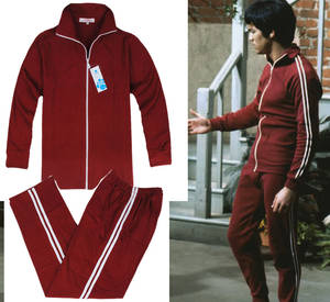 Bruce Lee Kung Fu Uniform Long Street Movies Tracksuit Jeet Kune Do Chinese Vintage Uniform Wingchun Clothes