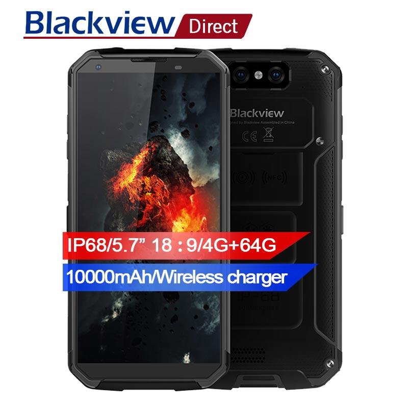 Blackview BV9500 10000 mah IP68 Étanche 16MP Caméra NFC Sans Fil chargeur 5.7 18:9 4g mondial Smartphone 64g MT6763T Android 8.1