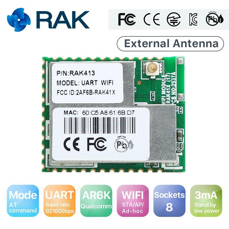 UART WiFi Module Serial Port TCP UDP IoT Module 8 Sockets, STA/AP Mode 3mA Low Power Industrial Integrated TCP/IP RAK413 Q151 industrial power module evk75 050b