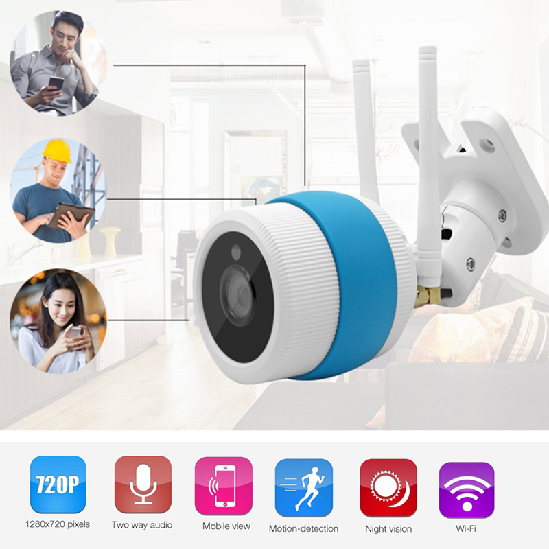 Waterproof VR Camera IP Network Wireless 720P HD  Network Mini Security Camera Home Surveillance Bullet Camera with Night Vision bullet camera tube camera headset holder with varied size in diameter