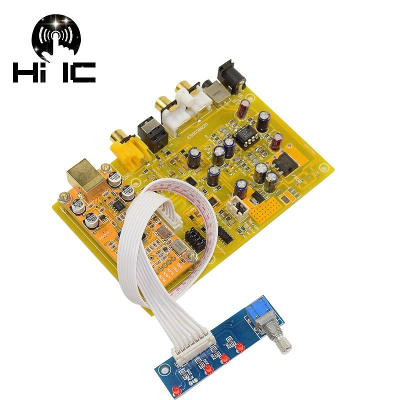 ES9038 Q2M I2S DSD Optical Coaxial Input HiFi Decoder DAC Headphone Output Support XMOS XU208 SA9227