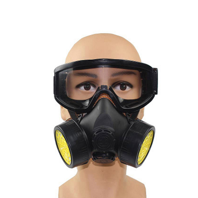 33aea22ee78 New Gas Mask Half Face With Anti fog Goggles Activated Carbon Dustproof  Chemical Filter Respirator Formaldehyde Paint Spray-in Chemical Respirators  from ...