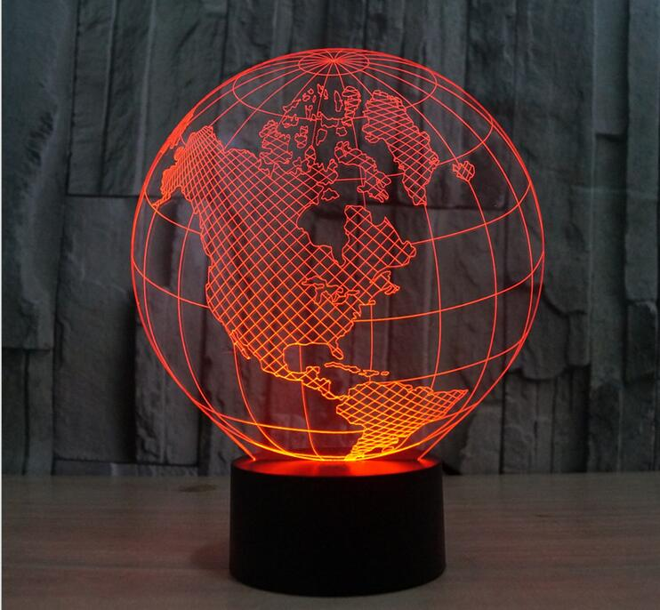 Bulbing Light 3d Led Lamp Featuring 3d Wire Frame Images