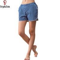 Casual Female Sleeping Shorts Sleep Bottoms Women Cotton Pajama Shorts Lounge Boxer Dot Printing Elastic Waist Chic SY685
