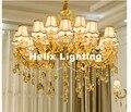Бесплатная доставка Золотая отделка люстры роскошная винтажная хрустальная люстра E14 светодиодная Золотая люстра оттенки в комплекте