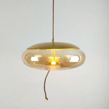 جمهورية التشيك التعميم بيضاوي الشكل الزجاج الثريا حبل القنب Lumarias غرفة الطعام لوفت أضواء الثريا هبوط السفينة