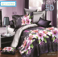 BEST.WENSD china luxury bedding mall ocean bed linen Superfine polyester fiber bedding Double california king duvet cover sets