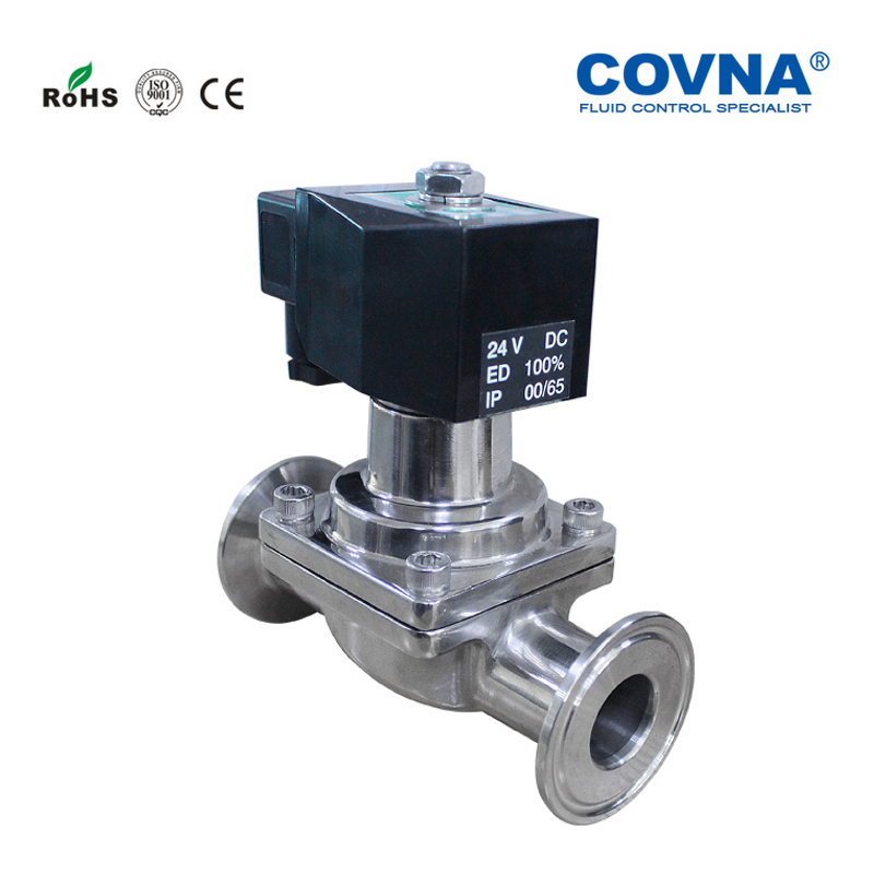 1 2 inch Tri Clamp Sanitary Solenoid Valve Normally Closed Stainless Steel 304 for Brewery