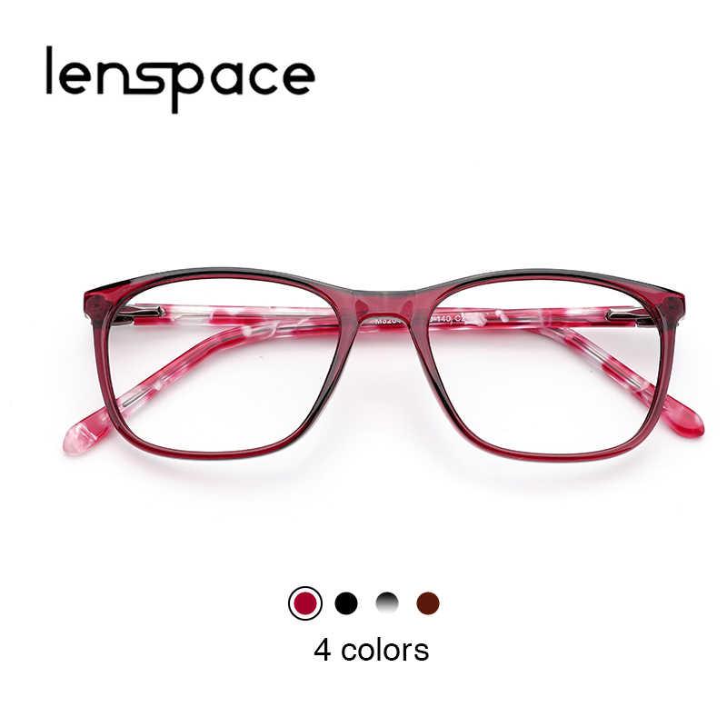 f96bdc079cf Lenspace Acetate Frame Glasses Women Fashion Optical Square Grade Clear  Trendy Women Frame For Eyeglasses Women s