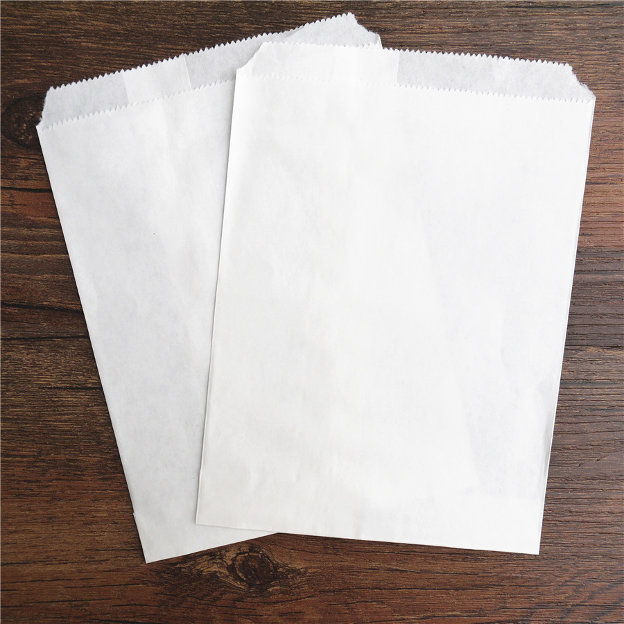25pcs Handmade DIY Candy Gift Bag 5x7inch Full Kraft White Style New Treat Craft Paper Popcorn Food Safe Party Favor Baking Bags